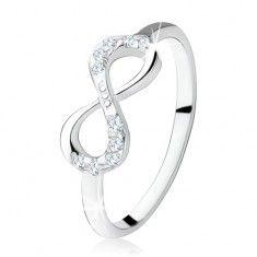 925 ezüst eljegyzési gyűrű, fekvő nyolcas, átlátszó cirkóniák Wedding Rings, Engagement Rings, Jewelry, Enagement Rings, Jewlery, Jewerly, Schmuck, Jewels, Jewelery