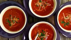 Quick Tomato Soup with Balsamic Vinegar and Toasted Pasta Recipe