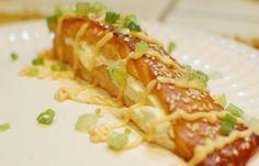 delicias de salmon relleno en camisa de brioche
