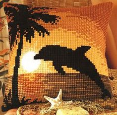 dolphins cross stitch patterns and kits Cross Stitch Sampler Patterns, Cross Stitch Borders, Cross Stitch Samplers, Cross Stitch Animals, Cross Stitch Designs, Cross Stitching, Pixel Art Background, Double Knitting Patterns, Hand Embroidery Art