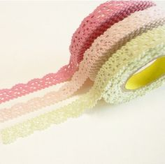 Pretty DIY craft lace tape... Tutorial on how to make your own and different crafts to use it!