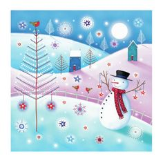 Leading Illustration & Publishing Agency based in London, New York & Marbella. Christmas Art, Vintage Christmas, Christmas Cartoons, 3d Craft, Winter Art, Paint Designs, Art Google, Winter Wonderland, Illustration Art