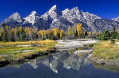 Grand Teton National Park, Wyoming - We saw a black bear and her cub while hiking there!  Beautiful...
