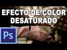 Efecto de color al desaturar - Tutorial Photoshop en Español (HD. Efecto de color conseguido a partir de una capa de ajuste de blanco y negro.