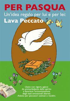 Il sapone Lava Peccato per augurare Buona Pasqua.