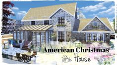 Sims 4 - American Christmas House (House   Mods for download)