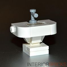 LEGO Furniture Bathroom Sink White Custom Set with Parts Instructions *** Visit the image link more details.