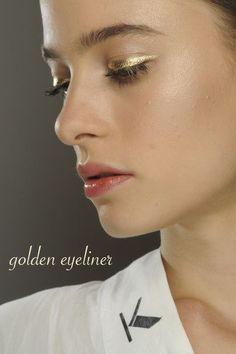 Golden Eyeliner on Belle Belle Beauty