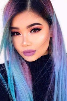 27 Chic and Sexy Blue Hair Styles for a Brave New Look Brown Ombre Hair, Ombre Hair Color, Blue Hair, Hair Colors, Mens Hair Paste, Hair Clay, Brave, Caramel Hair, Dream Hair