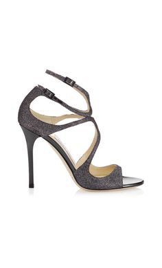 55806eaf0c2 Lang Sandals in Anthracite Lamé Glitter from Jimmy Choo. Discover our  Collection and shop the latest trends today.