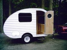 The Widget is a trailer specifically designed for winter camping.