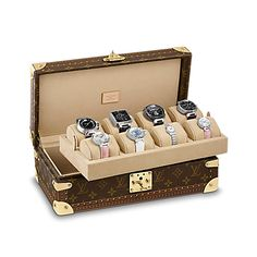 LOUIS VUITTON - €4,200.00  Coffret for 8 Watches Monogram canvas - Travel Bags - Suitcases stiff http://it.louisvuitton.com/ita-it/prodotti/coffret-per-8-orologi-monogram-000728