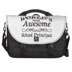 World's Most Awesome School Principal Laptop Commuter Bag