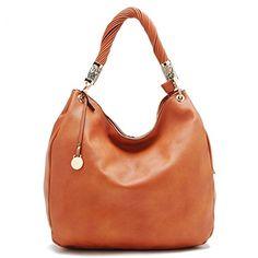 ed897edaf281 Silky Look Large Womens Hobo Bag Orange