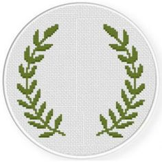 Leaf Wreath Stitch Pattern, You can make really unique habits for textiles with cross stitch. Cross stitch designs may almost amaze you. Cross stitch novices will make the designs they want without difficulty. Celtic Cross Stitch, Blackwork Cross Stitch, Small Cross Stitch, Cross Stitch Heart, Cross Stitch Quotes, Cross Stitch Flowers, Cross Stitch Embroidery, Cross Stitch Boarders, Embroidery Leaf