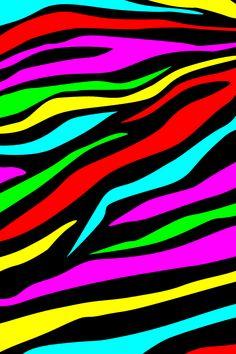A colorful zebra print