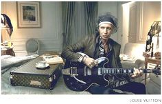 I love Keith Richards in this Louis Vuitton ad