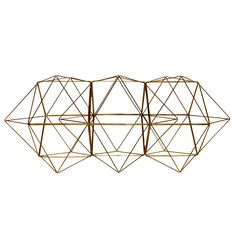 geometric wire sculpture - creator unknown -  usa - 1970s - height: 14.5 in. (37 cm)  depth: 14.5 in. (37 cm)  width/length: 38.25 in. (97 cm) - via home anthology