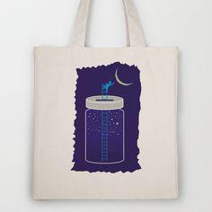 jar space Tote Bag by creaziz - $18.00