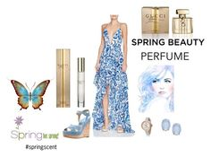 """""""Perfume For Spring, #springscent"""" by freida-adams ❤ liked on Polyvore featuring Gucci, The Jetset Diaries, Michael Kors and Cara"""