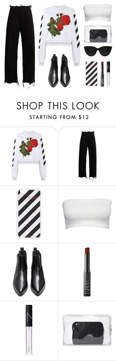 """""""OFF - WHITE"""" by baludna ❤ liked on Polyvore featuring Off-White, Marques'Almeida, NARS Cosmetics, 3.1 Phillip Lim and Quay"""