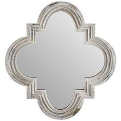 Antique-Shabby-Chic-Vintage-White-Wooden-Quatrefoil-Mirror-Wall-Home-Decor