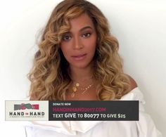 Beyoncé speaks at the Hand In Hand Benefit Relief 12th September 2017