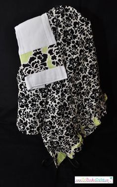 Nursing Cover with Pocket and Matching Burp Cloth Great Baby Shower Gift $30.00