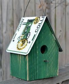 Birdhouse John Deere Green John Deere license by ruraloriginals