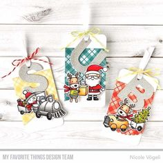 Nuova release My Favorite Things. Tag Natalizie #mftstamps #tags #christmastags