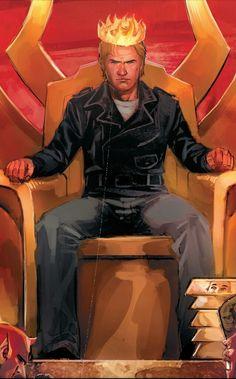Ghost Rider (Johnny Blaze): King Of Hell Ghost Rider Johnny Blaze, New Ghost Rider, Ghost Rider Marvel, Marvel Comic Character, Marvel Characters, Marvel Heroes, Marvel Dc, Ultimate Hulk, Midnight Son