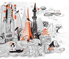 Tokyo tokyo - arte vectorial de stock y más imágenes de japón libre de derechos