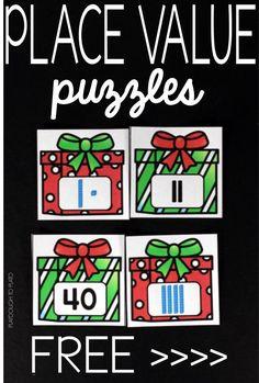 Christmas Place Value Puzzles - Playdough To Plato