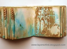 Layers of ink: Dies, Stencils and Stamps Blog Hop