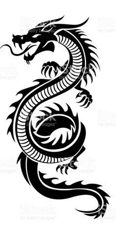 / dragon art / - My most beautiful tattoo list Tribal Dragon Tattoos, Small Dragon Tattoos, Japanese Dragon Tattoos, Dragon Tattoo Designs, Small Tattoos, Chinese Tattoos, Dragon Tattoo Drawing, Dragons Tattoo, Molecule Tattoo