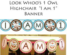 CUSTOMIZED I am 1 highchair banner - Girl or Boy Themes - 1st year birthday party - High Chair Banner  Design Your Own ( DIY Printable). $8.99, via Etsy.