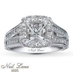 Neil Lane Ring Setting 1 8 Ct Tw Diamonds Platinum