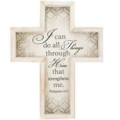 A heartwarming piece for their home, this wall cross is a reminder of strength and faith and looks great in any room. Wall Crosses, Religious Gifts, All Things, Strength, Canning, Home Canning, Conservation, Electric Power