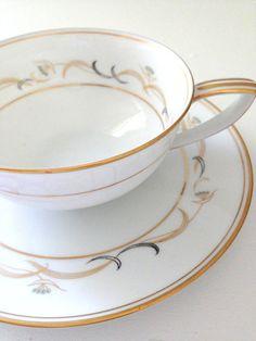 Vintage Noritake Teacup and Saucer