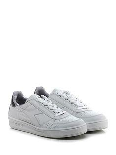 DIADORA Heritage - Sneakers - Uomo - Sneaker in pelle e pelle laminata con suola in gomma. Tacco 35, platform 25 con battuta 10. - WHITE\SILVER - € 170.00