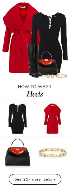 """""""Large lapels"""" by danigrll on Polyvore featuring Keepsake the Label, Topshop, Fendi, Tiffany & Co. and Marc by Marc Jacobs"""