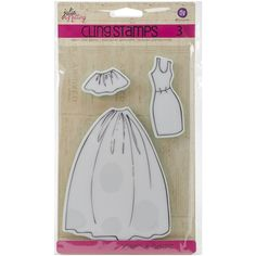 Prima Marketing Julie Nutting Mixed Media Cling Rubber Stamps-Dress & Skirts Accessories