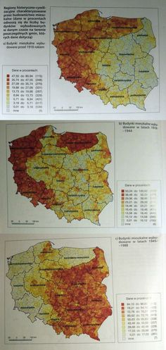 Houses built before between and in regions of Poland Old World Maps, Vintage World Maps, Poland Map, The Old Curiosity Shop, Poland History, Alternate History, Historical Maps, Planer, Statistics