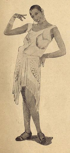 Josephine Baker | Ilustração Magazine Fashion Spread by Black History Album, via Flickr