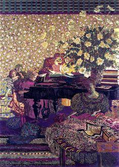 Figures in an Interior, Music - Edouard Vuillard - 1896