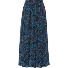 Paul & Joe Svetana printed silk-georgette maxi skirt (€315) ❤ liked on Polyvore