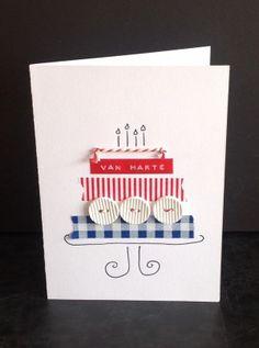 taart-kaart met washi tape en knopen