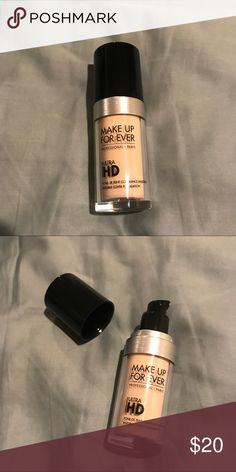 Makeup Forever HD Foundation Makeup Forever HD Foundation in Ivory. This has never been used, I only swatched it on the back of my hand to see the color and formula. Makeup Forever Makeup Foundation