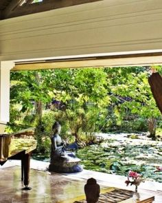 Silent Waters  ( Montego Bay, Jamaica )  The Meditation Room opens to tropical gardens, with koi ponds and stone statues at every turn. #Jetsetter