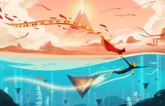 Journey and Abzu  AAAHHH YYYEEESSSSS I LOVe THIS  These games are my babies  Both so freaking good